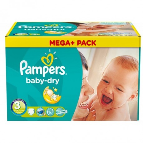 1160 Couches Pampers Baby Dry taille 3 sur Les Looloos