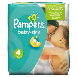 25 Couches Pampers Baby Dry taille 4 sur Les Looloos