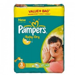 30 Couches Pampers Baby Dry taille 3 sur Les Looloos