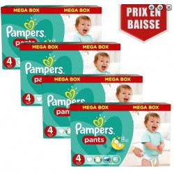 492 Couches Pampers Baby Dry Pants taille 4 sur Les Looloos