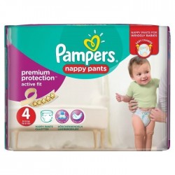 160 Couches Pampers Active Fit Pants taille 4 sur Les Looloos