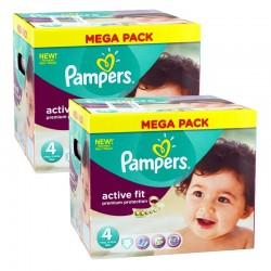 640 Couches Pampers Active Fit Pants taille 4 sur Les Looloos