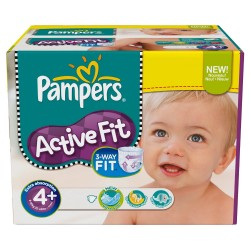 800 Couches Pampers Active Fit Pants taille 4 sur Les Looloos
