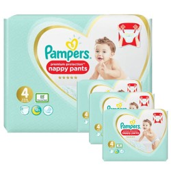141 Couches Pampers Premium Protection Pants taille 4 sur Les Looloos