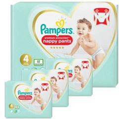 235 Couches Pampers Premium Protection Pants taille 4 sur Les Looloos