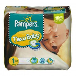 22 Couches Pampers Premium Protection taille 1 sur Les Looloos