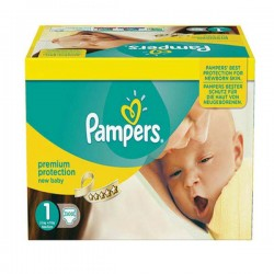 44 Couches Pampers Premium Protection taille 1 sur Les Looloos