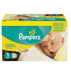 66 Couches Pampers Premium Protection taille 1 sur Les Looloos