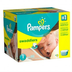 132 Couches Pampers Premium Protection taille 1 sur Les Looloos