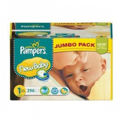 154 Couches Pampers Premium Protection taille 1 sur Les Looloos