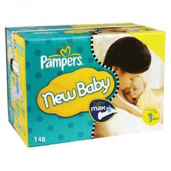 198 Couches Pampers Premium Protection taille 1 sur Les Looloos