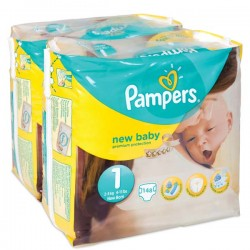 220 Couches Pampers Premium Protection taille 1 sur Les Looloos