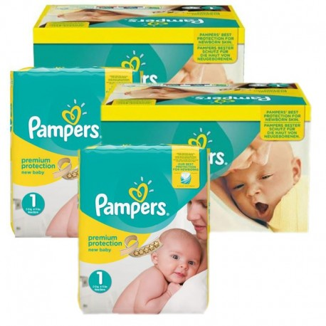 242 Couches Pampers Premium Protection taille 1 sur Les Looloos
