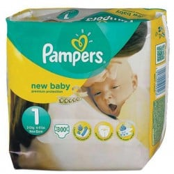 286 Couches Pampers Premium Protection taille 1 sur Les Looloos