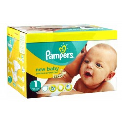 352 Couches Pampers Premium Protection taille 1 sur Les Looloos