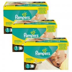 396 Couches Pampers Premium Protection taille 1 sur Les Looloos