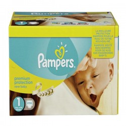 418 Couches Pampers Premium Protection taille 1 sur Les Looloos