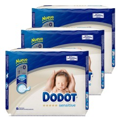 144 Couches Dodot Protection Plus Sensitive taille 0 sur Les Looloos