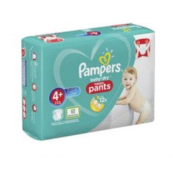 82 Couches Pampers Baby Dry Pants taille 4+ sur Les Looloos