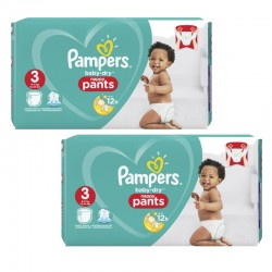 266 Couches Pampers Baby Dry Pants taille 3 sur Les Looloos