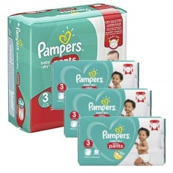 475 Couches Pampers Baby Dry Pants taille 3 sur Les Looloos