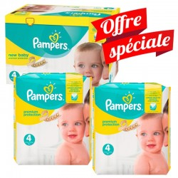 312 Couches Pampers Premium Protection taille 4 sur Les Looloos