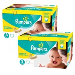 204 Couches Pampers New Baby Premium Protection taille 3 sur Les Looloos