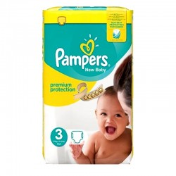 29 Couches Pampers Premium Protection taille 3 sur Les Looloos