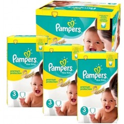 272 Couches Pampers New Baby Premium Protection taille 3 sur Les Looloos