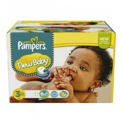 544 Couches Pampers New Baby Premium Protection taille 3 sur Les Looloos