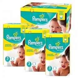 348 Couches Pampers Premium Protection taille 3