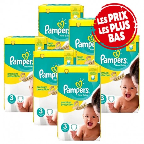 377 Couches Pampers Premium Protection taille 3 sur Les Looloos