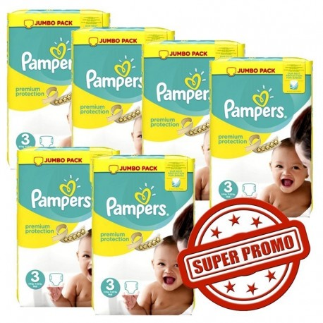 464 Couches Pampers Premium Protection taille 3 sur Les Looloos