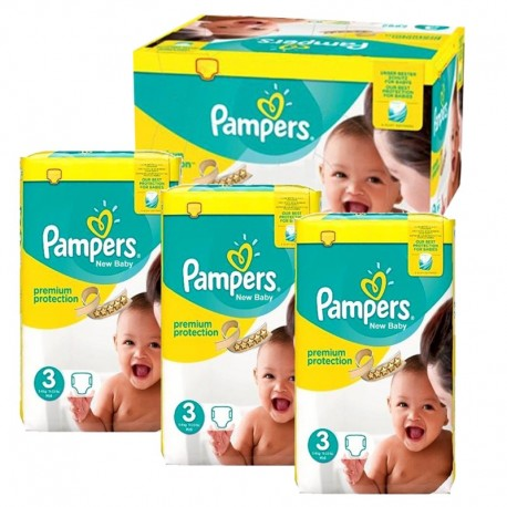 580 Couches Pampers Premium Protection taille 3 sur Les Looloos