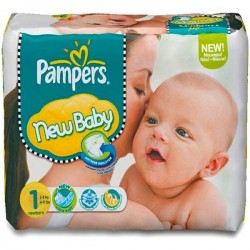 56 Couches Pampers Premium Protection taille 1 sur Les Looloos