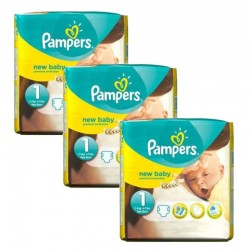 224 Couches Pampers Premium Protection taille 1 sur Les Looloos