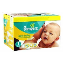 392 Couches Pampers Premium Protection taille 1 sur Les Looloos