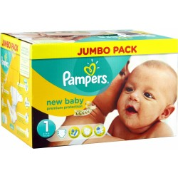 560 Couches Pampers Premium Protection taille 1 sur Les Looloos