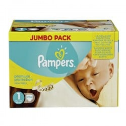 616 Couches Pampers Premium Protection taille 1 sur Les Looloos
