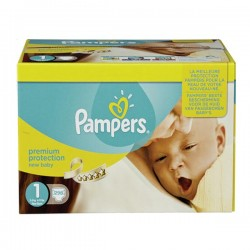 672 Couches Pampers Premium Protection taille 1 sur Les Looloos