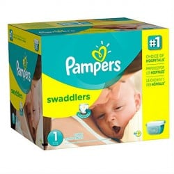 784 Couches Pampers Premium Protection taille 1 sur Les Looloos