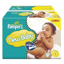 896 Couches Pampers Premium Protection taille 1 sur Les Looloos