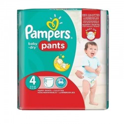62 Couches Pampers Baby Dry Pants taille 4 sur Les Looloos