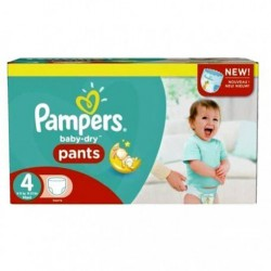 124 Couches Pampers Baby Dry Pants taille 4 sur Les Looloos