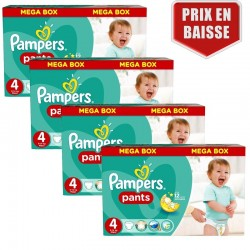 186 Couches Pampers Baby Dry Pants taille 4