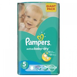 42 Couches Pampers Active Baby Dry taille 5 sur Les Looloos
