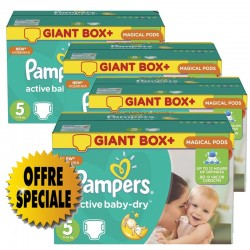 84 Couches Pampers Active Baby Dry taille 5 sur Les Looloos