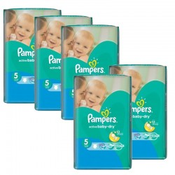 462 Couches Pampers Active Baby Dry taille 5