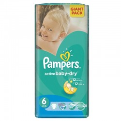 48 Couches Pampers Active Baby Dry taille 6 sur Les Looloos