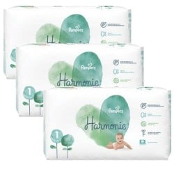 204 Couches Pampers Harmonie taille 1 sur Les Looloos